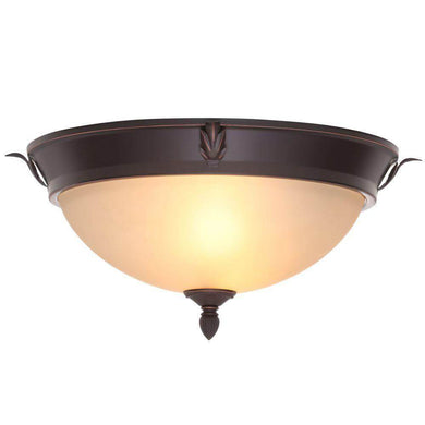 Hampton Bay two-light oil-rubbed bronze flush mount damaged box-Lighting-Tool Mart Inc.