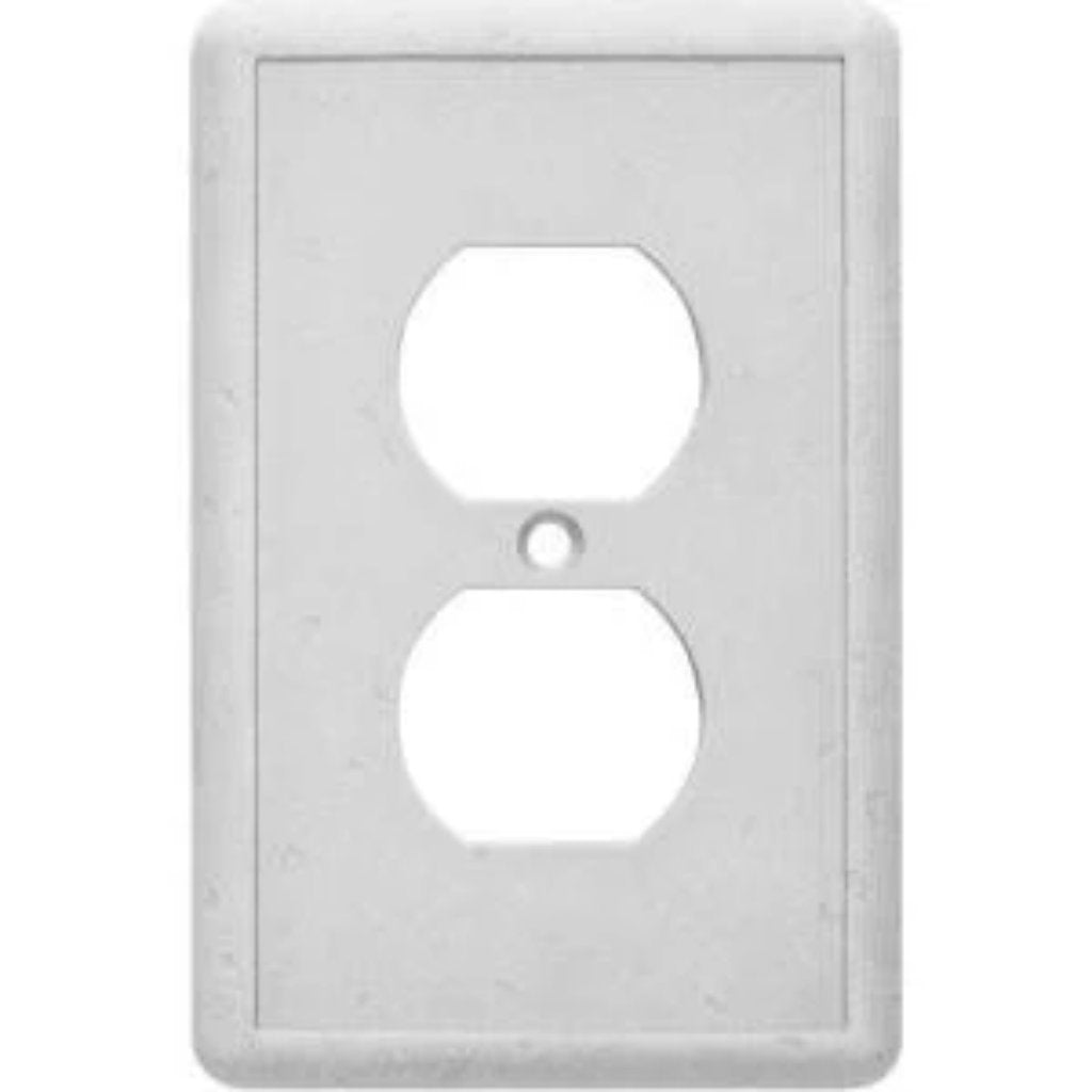 HamptonBay 1 Gang Duplex Wall Plate - Gray Damaged Box-outlets, switches, & plates-Tool Mart Inc.