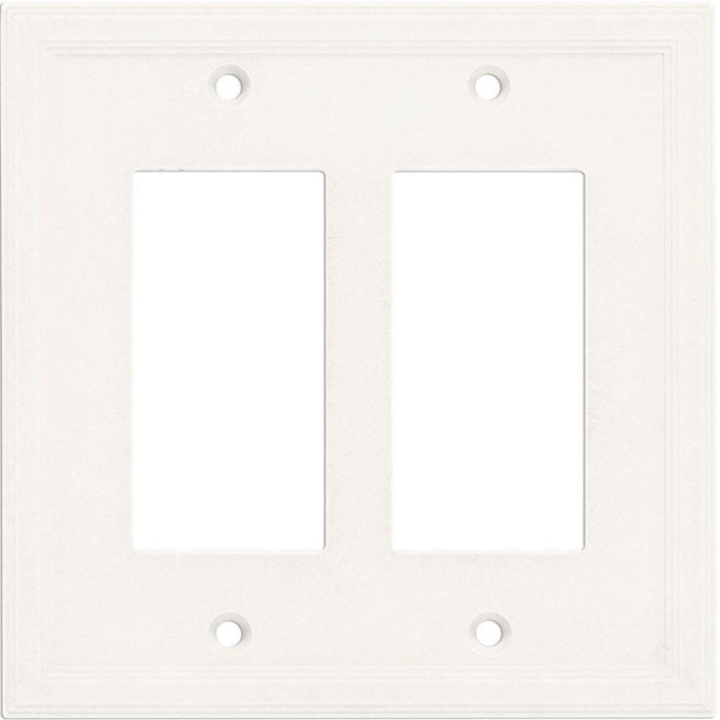 Hampton Bay Sovereign White Finish Double Outlet Cover Damaged Box