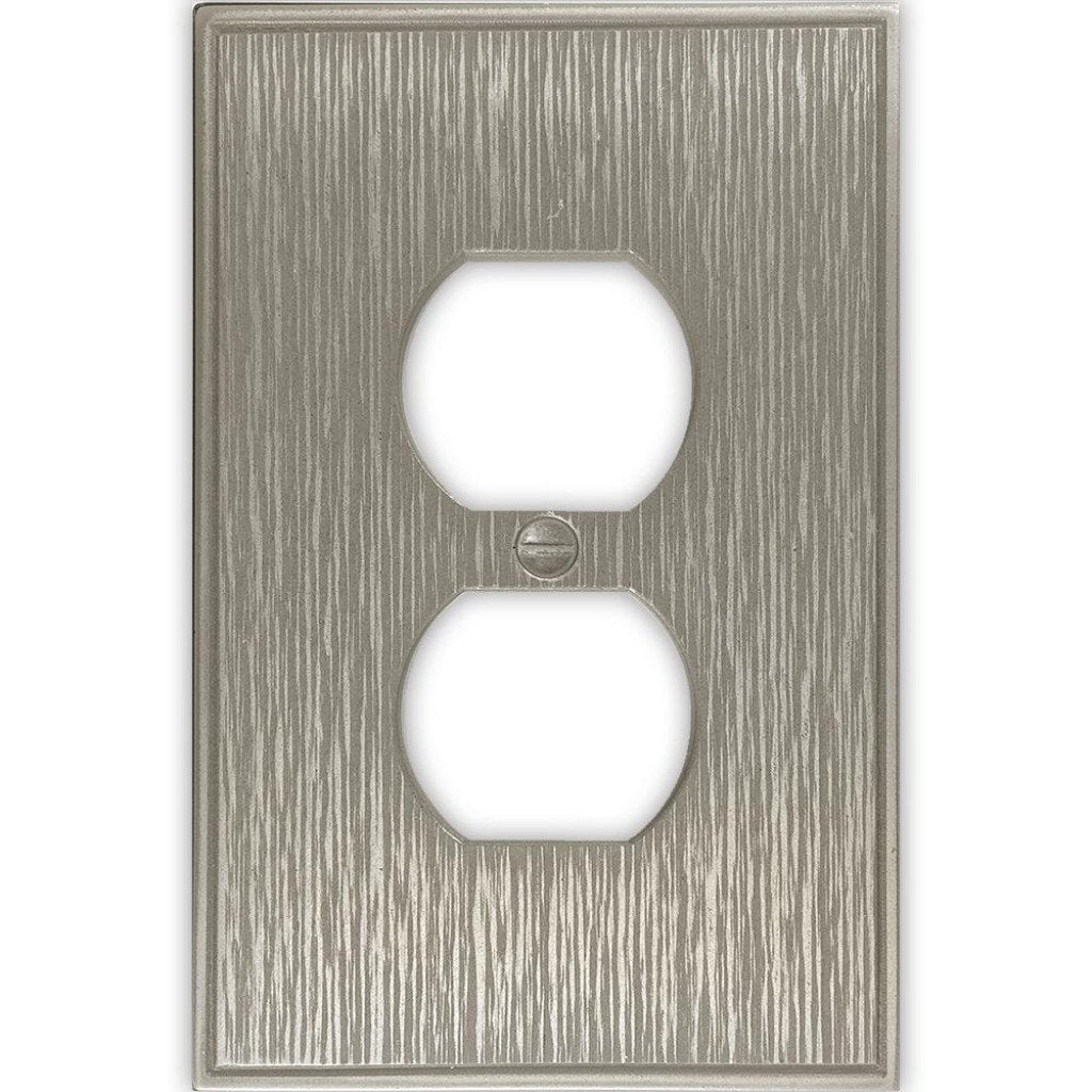 Hampton Bay Pearson Brushed Nickel Finish Outlet Cover Damaged Box
