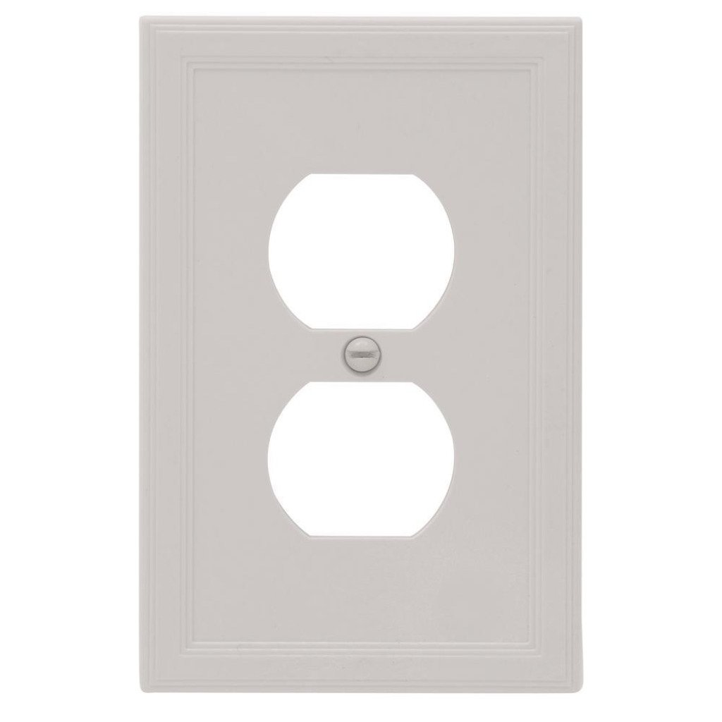 Hampton Bay Sovereign Gray Finish Outlet Cover