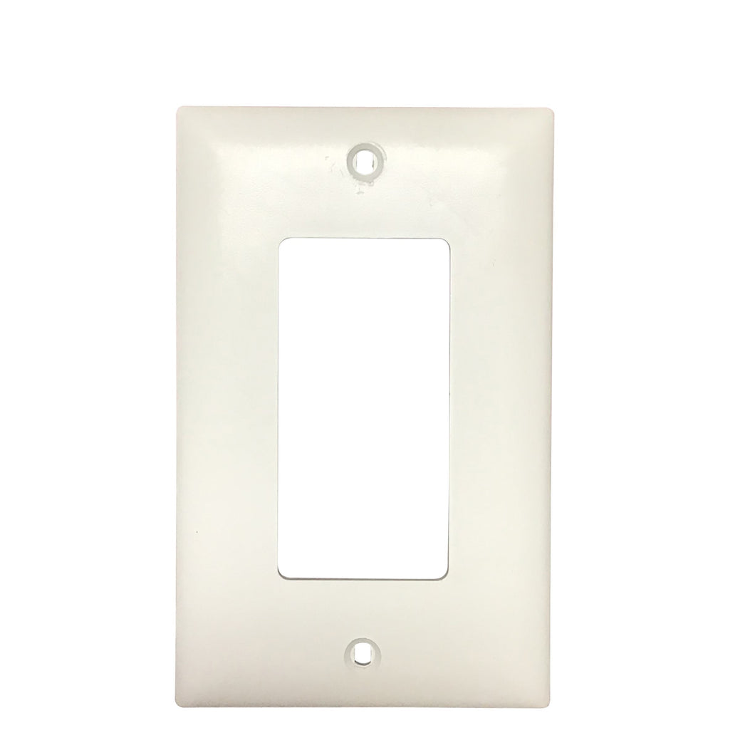 Hampton Bay Sovereign White Finish Single Outlet Cover Damaged Box