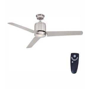 Home Decorators Collection Railey 60 in. LED Indoor Brushed Nickel Ceiling Fan with Light Kit and Remote Control Damaged Box-ceiling fixtures & fans-Tool Mart Inc.