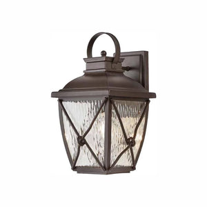 Home Decorators Collection Springbrook 1-Light Rustic Outdoor Wall Lantern Sconce Damaged Box-outdoor lighting-Tool Mart Inc.