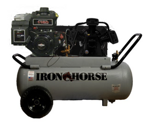 Iron Horse Air Compressor 8 Horse Power Briggs And Stratton Engine 25 Gallon Tank-iron horse air compressors-Tool Mart Inc.
