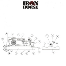 Iron Horse Electric Start Air Compressor-iron horse air compressors-Tool Mart Inc.