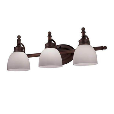 Kovacs 3-Light Rubbed Oil Bronze Bath Light with Opal Glass Damaged Box-vanity lights-Tool Mart Inc.