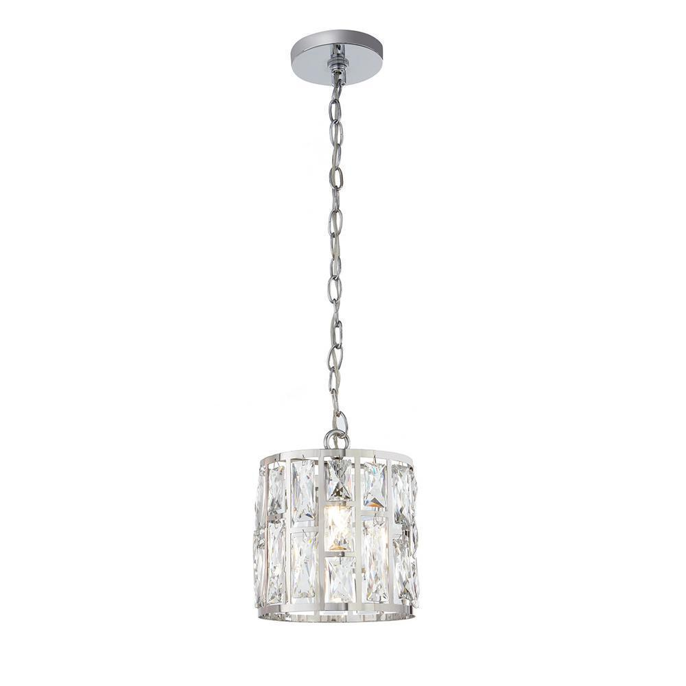 Kristella 1-Light Crystal and Chrome Pendant Damaged Box-Lighting-Tool Mart Inc.
