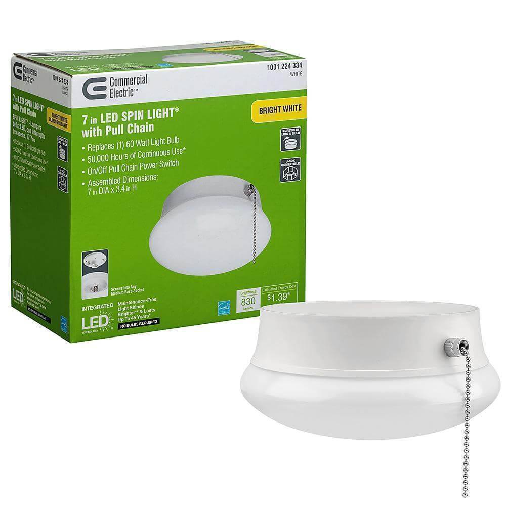 LED flush mount ceiling light with pull chain damaged box-Lighting-Tool Mart Inc.