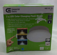 Lightbulb Replacement 7 in. Round 60-Watt Equivalent White Integrated LED Flush Mount with Color Changing Feature Damaged Box-Lighting-Tool Mart Inc.