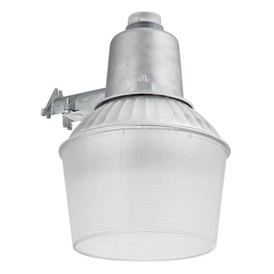 Lithonia gray outdoor area light with dusk to dawn photocell damaged box-security & motion sensor lights-Tool Mart Inc.