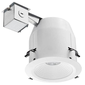 Lithonia Lighting LED 5 in. Recessed Matte White Baffle Kit Damaged Box-recessed fixtures-Tool Mart Inc.