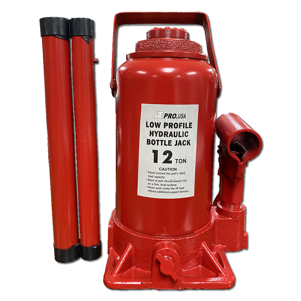 Low Profile 12 Ton Hydraulic Bottle Jack