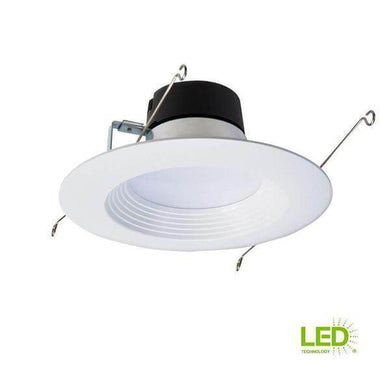 LT 5 in. and 6 in. White Integrated LED Recessed Ceiling Light Fixture Retrofit Downlight Trim, 90 CRI, 3000K Soft White-recessed fixtures-Tool Mart Inc.