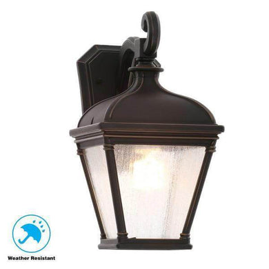 Malford Dark Rubbed Bronze Outdoor Wall Mount Lantern Damaged Box-outdoor lighting-Tool Mart Inc.