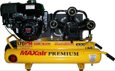 Max-Air 9HP Honda Electric Start-max air air compressors-Tool Mart Inc.