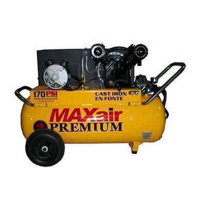 MaxAir 3.2 HP 25 Gallon (Belt Drive) CAst Iron Air Compressor (back order until 6-3-19)-max air air compressors-Tool Mart Inc.