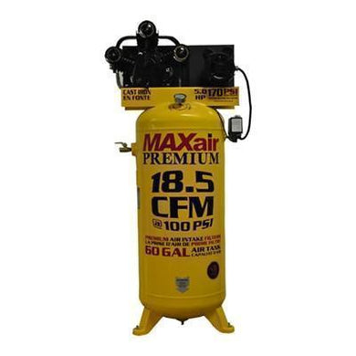 MAXair 5-HP 60-Gallon Single-Stage Air Compressor (208/230V 1-Phase)(out of stock 5-1-19)-max air air compressors-Tool Mart Inc.