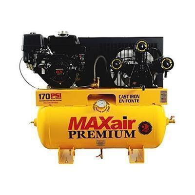 MAXair 9-HP 30-Gallon Truck Mount Air Compressor w/ Electric Start Honda Engine-max air air compressors-Tool Mart Inc.