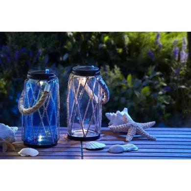 Moonrays Pair of Rope 1-Light LED Outdoor Hanging Lanterns Damaged Box-solar lights-Tool Mart Inc.