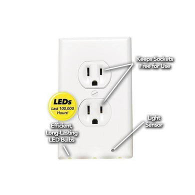 Night Angel lighted duplex, white damaged package-outlets, switches, & plates-Tool Mart Inc.