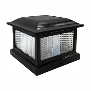 Outdoor black solar integrated LED plactic post cap light damaged box-solar lights-Tool Mart Inc.