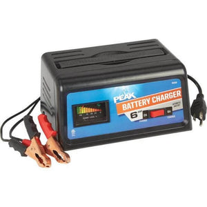 Peak 6 AMP Battery Charger-chargers & starters-Tool Mart Inc.