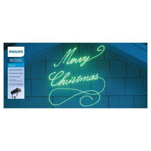 Philips Christmas Green Animated Motion Projector With Animation Damaged Box-holiday & seasonal-Tool Mart Inc.