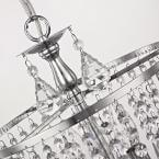 Polished chrome mini-chandelier with hanging crystals damaged box-Lighting-Tool Mart Inc.