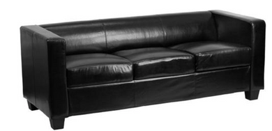 Prestige Series Black Leather Sofa-furniture-Tool Mart Inc.