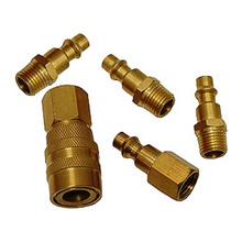 5 Piece Brass Quick Coupler Set
