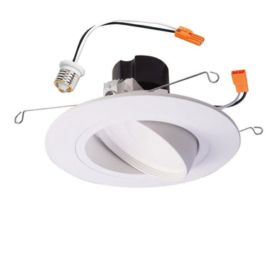 RA 5 Inch and 6 Inch White Integrated LED Recessed Ceiling Light Fixture Adjustable Gimbal Trim 90 CRI, 3000K Soft White Damaged Box-recessed fixtures-Tool Mart Inc.