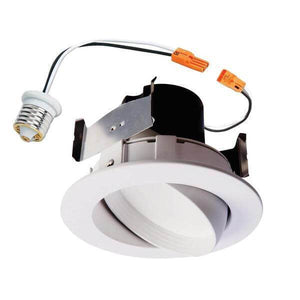 RA four inch white integrated LED HALO recessed ceiling light fixture adjustable gimbal retrofit trim *Damaged box*-recessed fixtures-Tool Mart Inc.