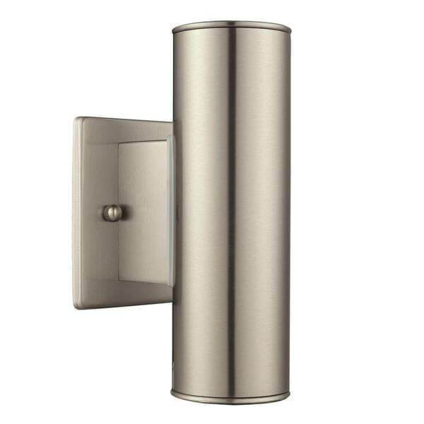 Riga 2-Light Stainless Steel Outdoor Integrated LED Wall Mount Cylinder Damaged Box-Lighting-Tool Mart Inc.