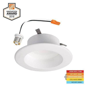 RL 4 in. White Integrated LED Recessed Ceiling Light Retrofit Trim with Selectable CCT (2700K-5000K) Damaged Box-recessed fixtures-Tool Mart Inc.