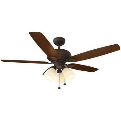 Rockport 52 in. LED Oil Rubbed Bronze Ceiling Fan with Light Kit Damaged Box-ceiling fixtures & fans-Tool Mart Inc.