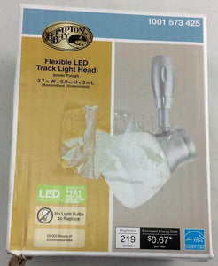 Silver Flex LED Track Head Lighting with Frosted Glass Damaged box-Lighting-Tool Mart Inc.