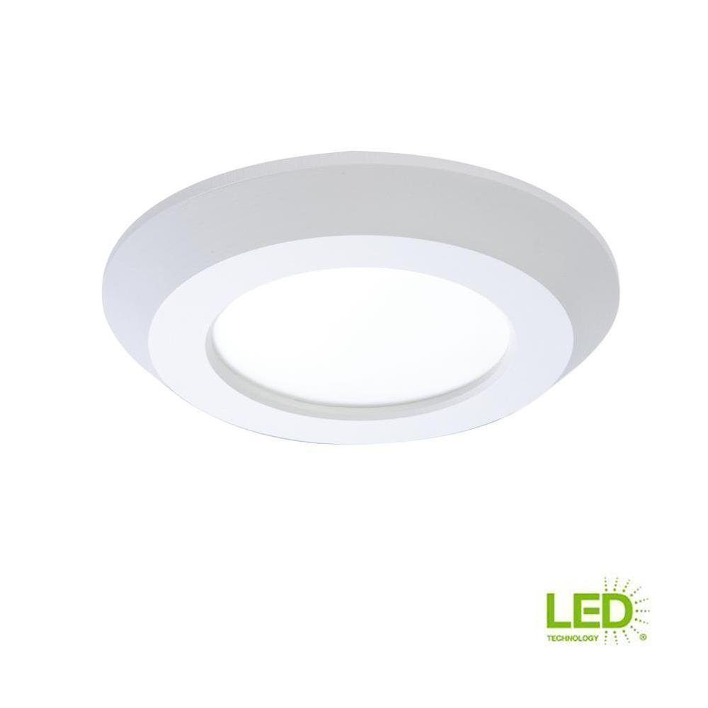 SLD 4 in. White Integrated LED Recessed Retrofit Ceiling Mount Light Fixture with 90 CRI, 3000K Soft White-recessed fixtures-Tool Mart Inc.
