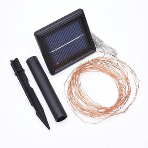 Solar 75-Light 24 ft. Integrated LED Copper Wire String Light Damaged Package-solar lights-Tool Mart Inc.