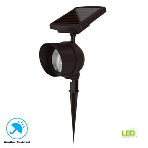 Solar Bronze Outdoor Integrated LED Color Changing Smart-Focus Landscape Spot Light *Damaged Box*-solar lights-Tool Mart Inc.