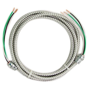 Southwire 12/2 x 8 ft. Solid CU MC (Metal Clad) Armorlite Modular Assembly Quick Cable Whip Damaged Packaging-cables & cords-Tool Mart Inc.