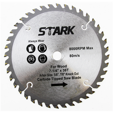 Stark 7 1 4inch 36 Tooth Saw Blade