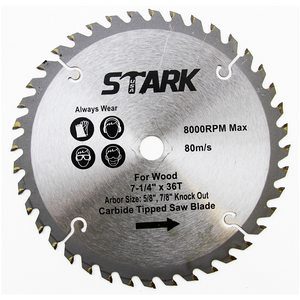 "Stark 7 1/4"" 36 Tooth Saw Blade"
