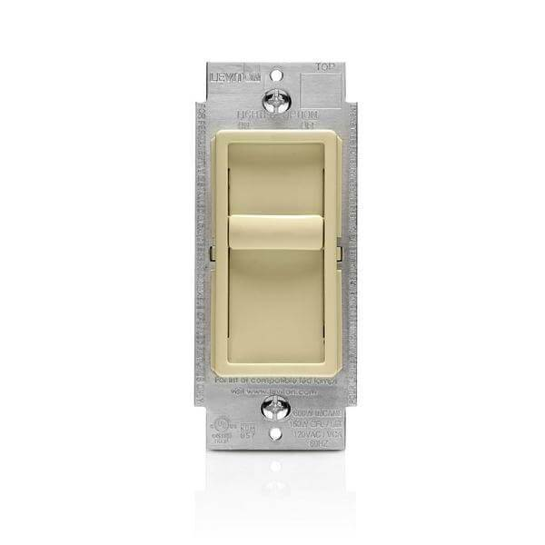 SureSlide Universal 150-Watt LED/CFL Incandescent Slide-To-Off Dimmer, Ivory Damaged Box-Lighting-Tool Mart Inc.