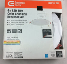 Ultra Slim 6 in. Color Selectable Canless LED Recessed Kit Damaged Box-recessed fixtures-Tool Mart Inc.