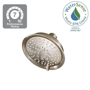 Universal 5-Spray 5.66 in. Fixed Shower Head in Brushed Nickel Damaged Package-OTHER ITEMS-Tool Mart Inc.