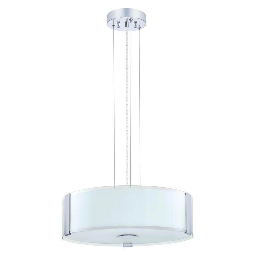 Varano chrome ceiling mount drum pendant damaged box-Lighting-Tool Mart Inc.