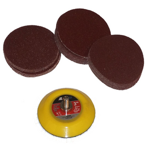 3 Inch Dual Action Hook and Loop Velcro Sanding Disc Kit