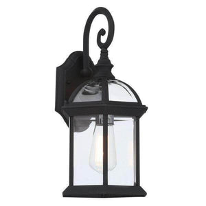 Wall Mount 1-Light Outdoor Black Coach Lantern with Clear Glass Damaged Box-outdoor lighting-Tool Mart Inc.