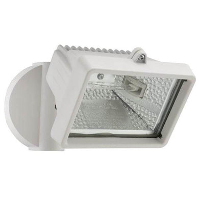 Wall-Mount Outdoor White Mini Flood Light Damaged Box-security & motion sensor lights-Tool Mart Inc.